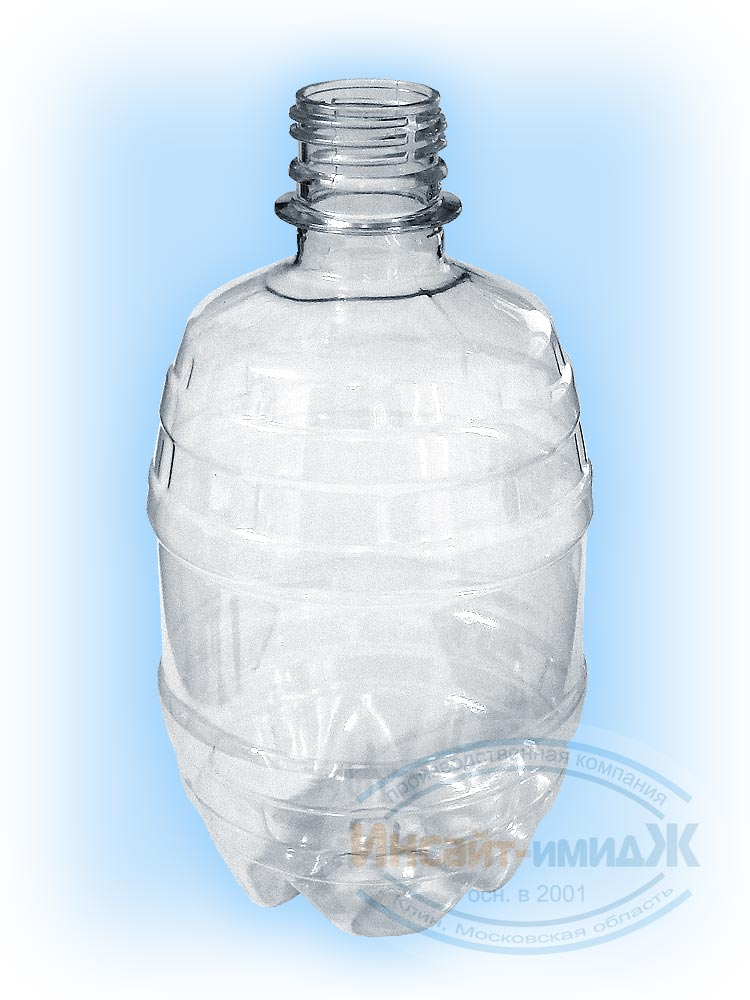Пэт бутылка 0,5 литра, горло 28 мм PCO1810, бочонок, бесцветная, от ООО Полимерторг