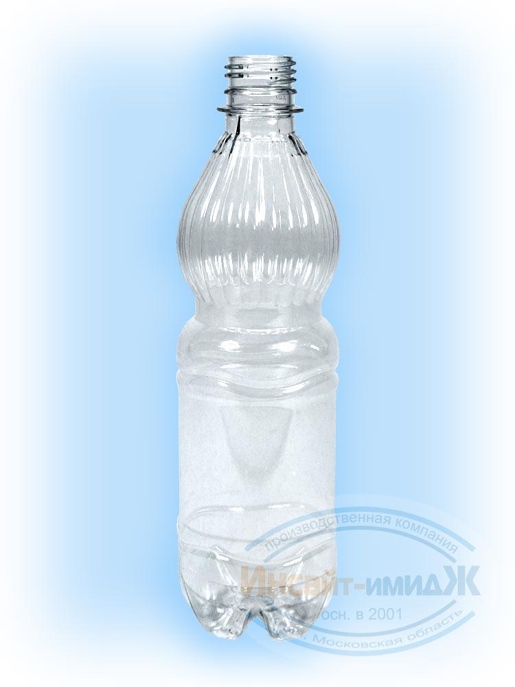 Пэт бутылка 0,5 литра, горло 28 мм PCO1810, колокол, бесцветная от ООО Полимерторг