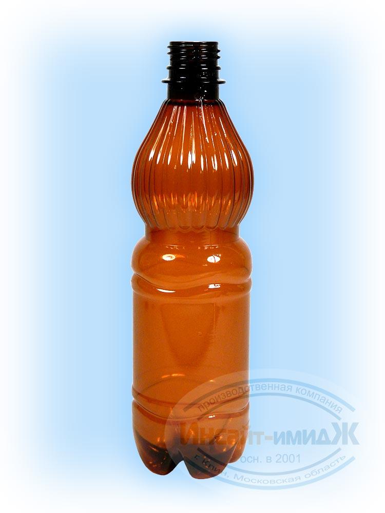 Пэт бутылка 0,5 литра 28 мм PCO1810, колокол, коричневая, от ООО Полимерторг