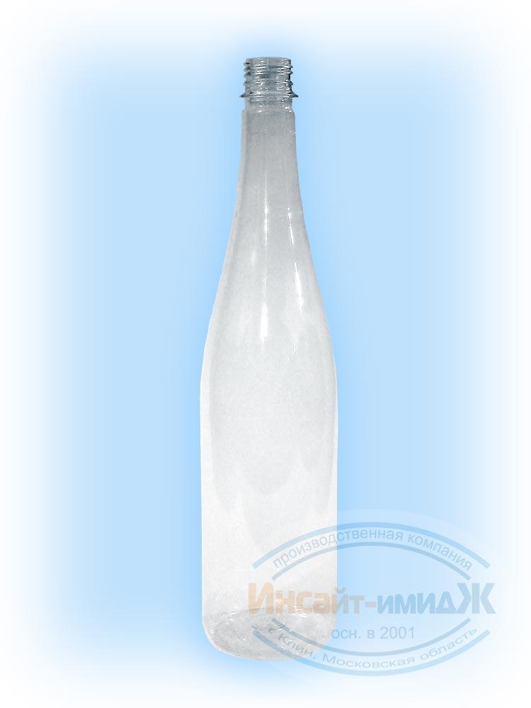 Пэт бутылка 1 литр винная 28 мм PCO1810, прозрачная, бесцветная, от ООО Полимерторг