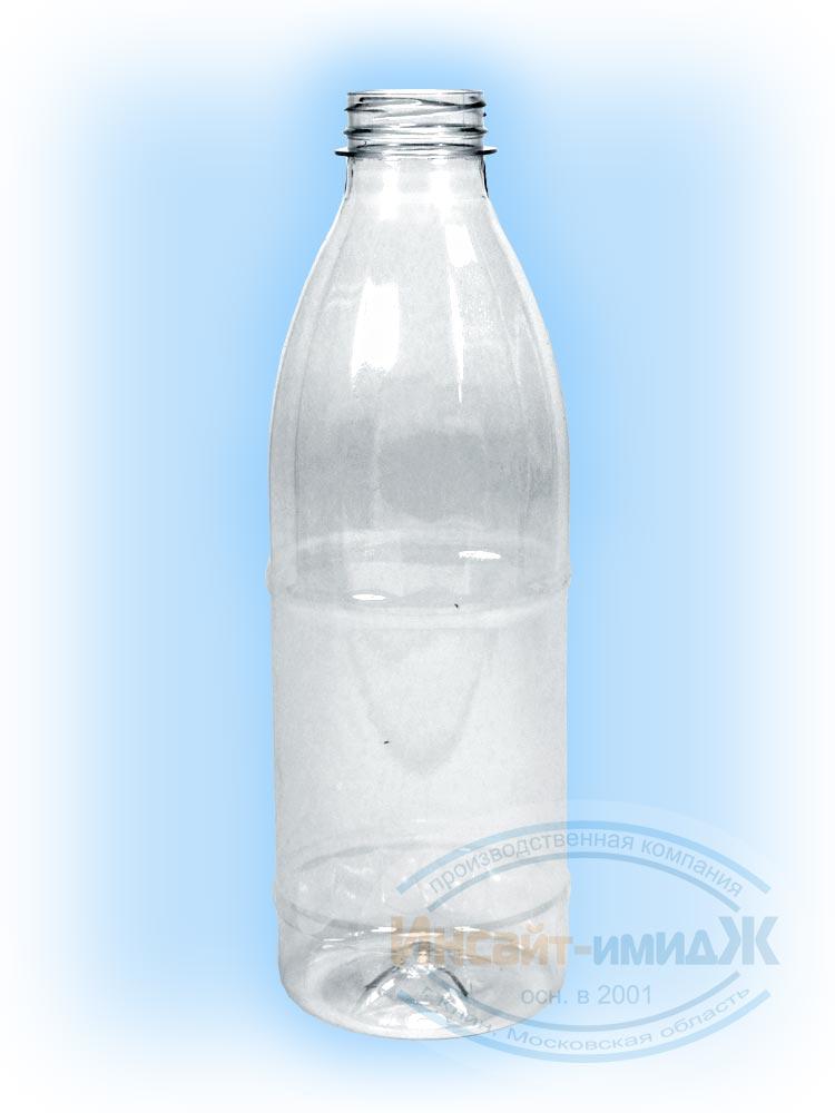 Пэт бутылка 1 литр молочная 38 мм Bericap38 (BRC38), бесцветная, от ПК Инсайт-Имидж
