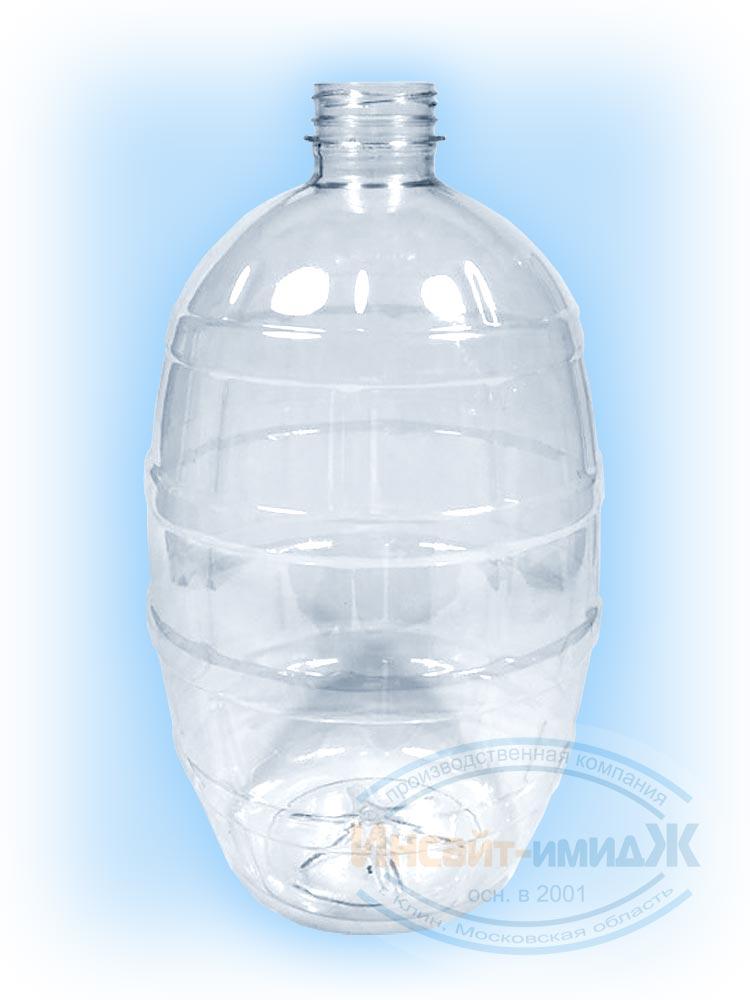 Пэт бутылка 3 литра 38 мм Bericap38 (BRC38), бочонок, бесцветная, прозрачная, от ООО Полимерторг