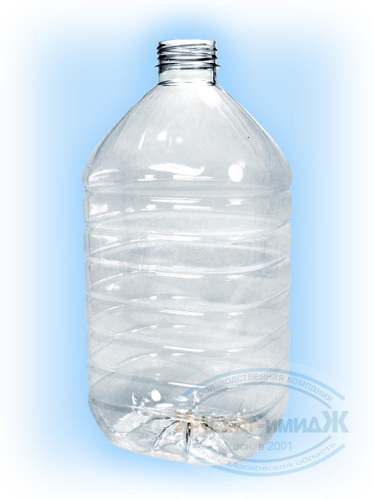 Пэт бутылка 4,5 литра 48 мм 3-START, бесцветная, прозрачная, от ПК Инсайт-Имидж