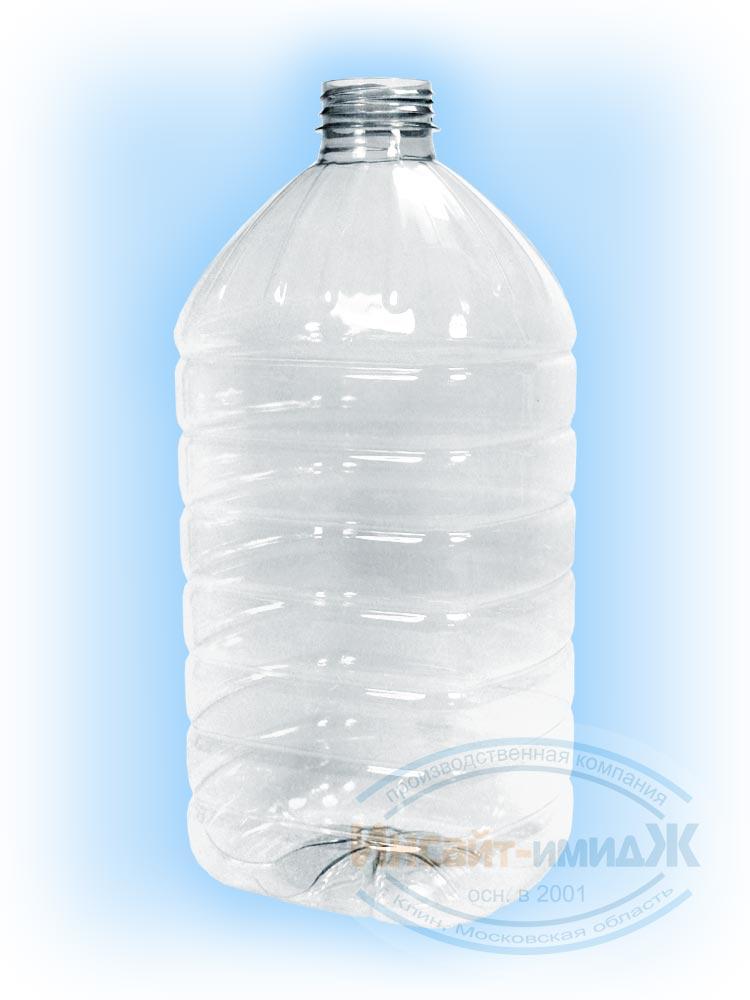 Пэт бутылка 5 литров 48 мм 3-START, бесцветная, прозрачная, от ПК Инсайт-Имидж