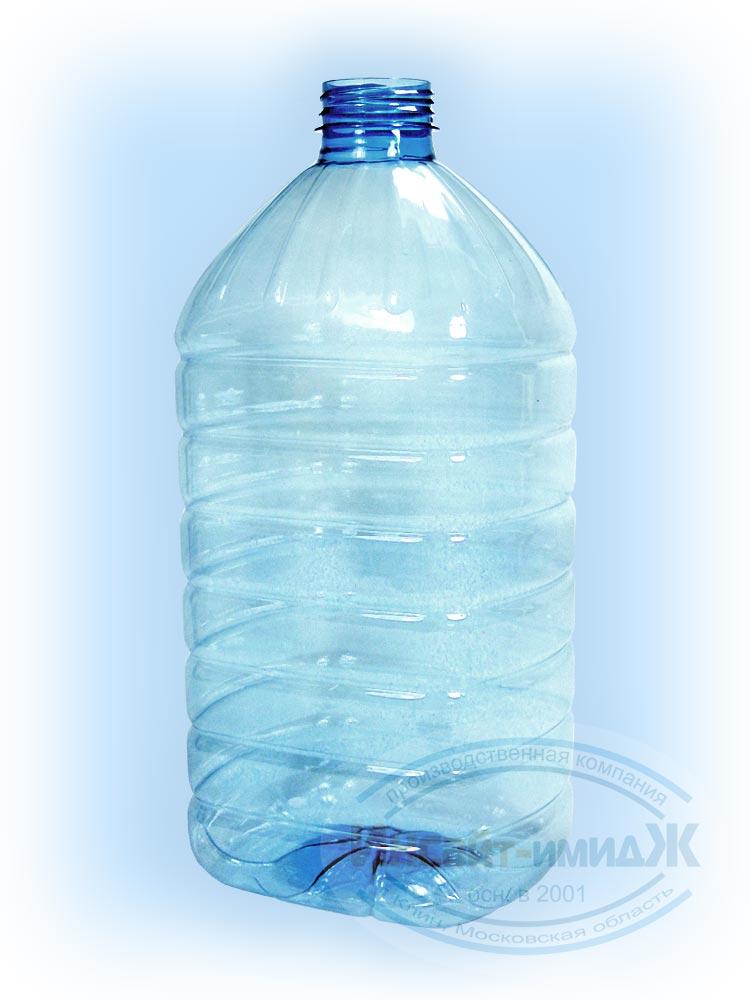 Пэт бутылка 5 литров 48 мм 3-START, голубая, прозрачная, от ООО Полимерторг