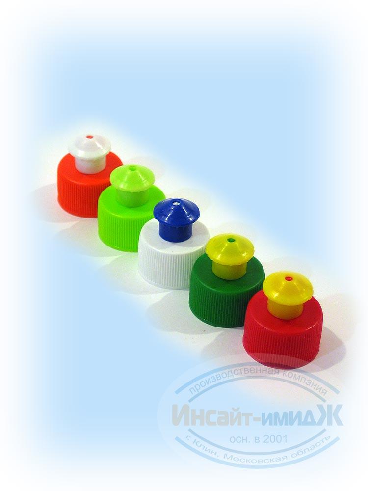 Полипропиленовые колпачки Push-Pull для пэт бутылок с горлом 28 мм PCO1810 от ООО Полимерторг