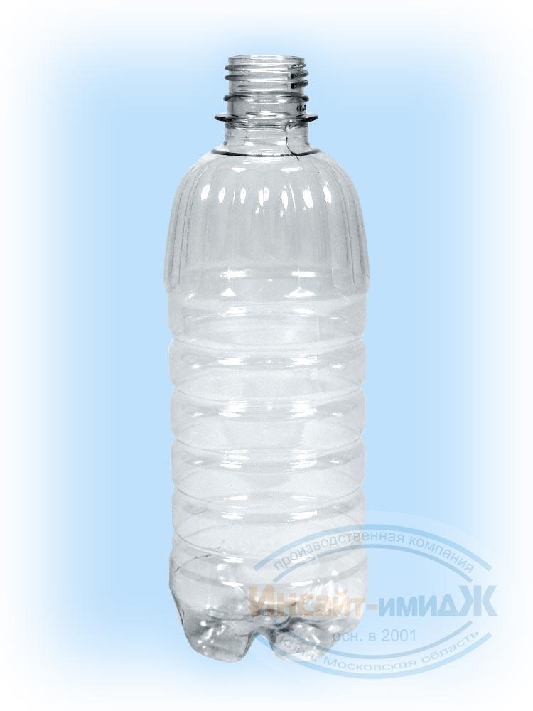 Пэт бутылка 0,5 литра, горло 28 мм PCO1810, бесцветная