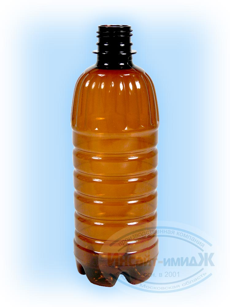 Пэт бутылка 0,5 литра, горло 28 мм PCO1810, коричневая