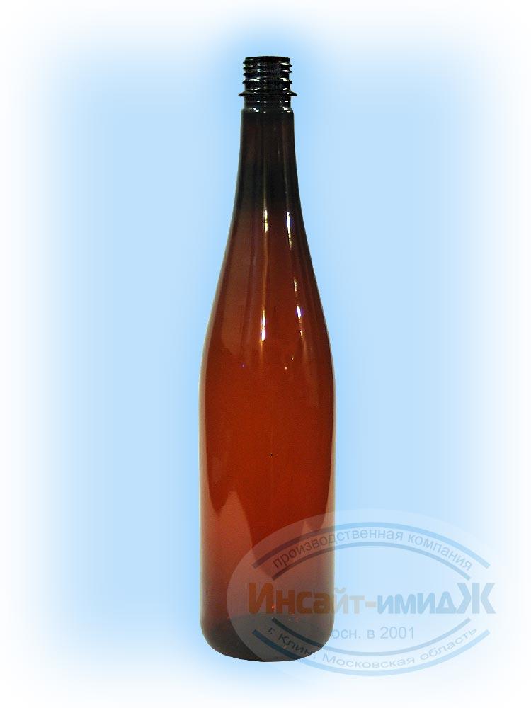 Пэт бутылка 1 литр 28 мм PCO1810 винная, коричневая, от ООО Полимерторг