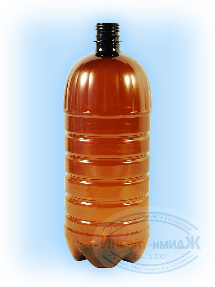 Пэт бутылка 1,5 литра 28 мм PCO1810, коричневая, от ООО Полимерторг