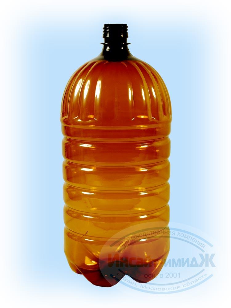 Пэт бутылка 2,5 литра 28 мм PCO1810, коричневая,