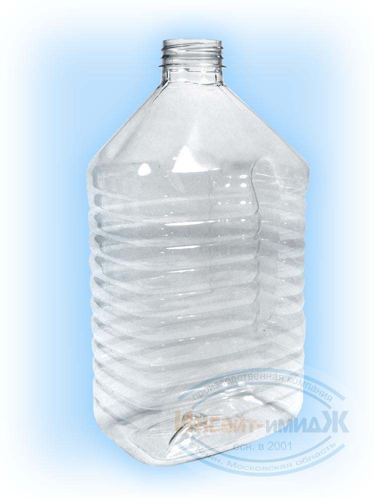 Пэт бутылка 4 литра 48 мм 3-START, фляжка, бесцветная, прозрачная, от ООО Полимерторг
