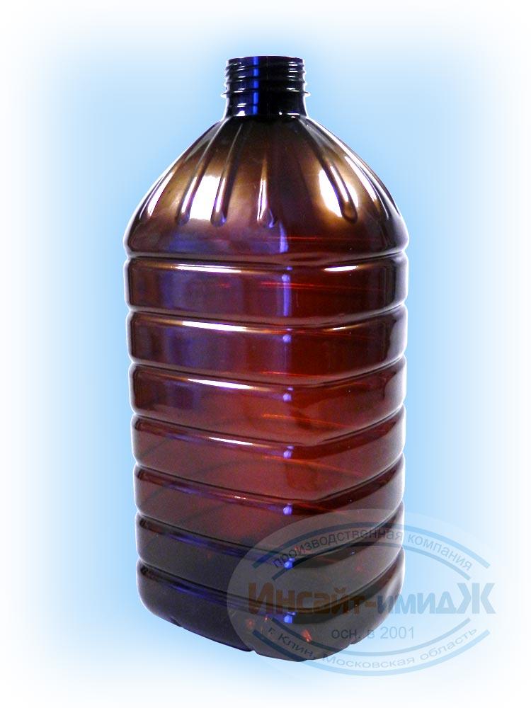 Пэт бутылка 5 литров 48 мм 3-START, коричневая, под квас, от ООО Полимерторг